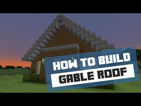 How to Build a Gable Roof - Minecraft Tutorial
