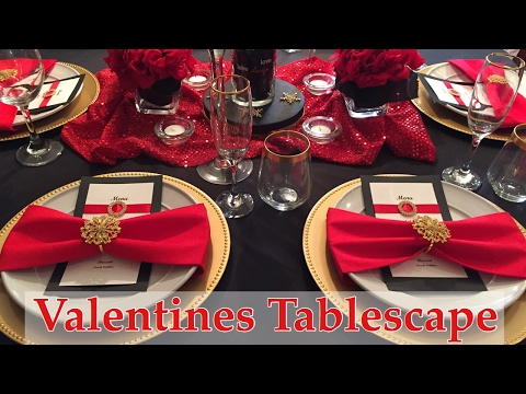 Valentine's Tablescape and Dinner Party Setup