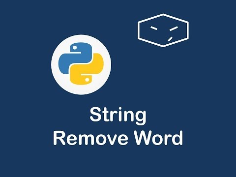 string remove word in python