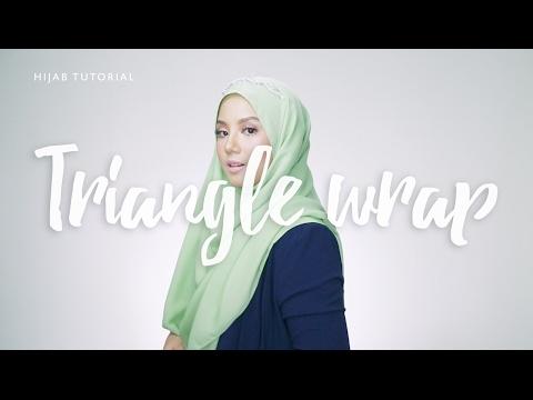Hijab Tutorial:Triangle Wrap with headband