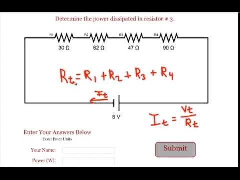 Series Circuit Power Problem