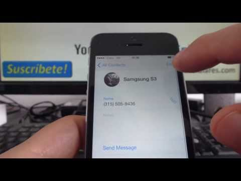 Ways to Delete Contacts on iPhone 5s 5c 5 4s iOS 7 English Channeliphone