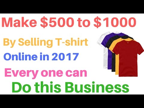 Earn $500 to $1000 Selling T-shirts   Earn money online With Teespring   in 2017