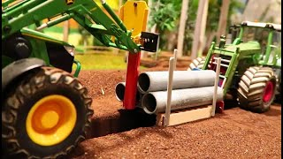 Rc TRACTOR action at work - farming with Fendt & heavy farm
