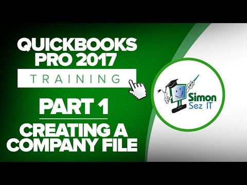 QuickBooks Pro 2017 Training Part 1: How to Create Your Company File - Part 1