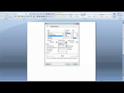 How to change the default font in Word 2007