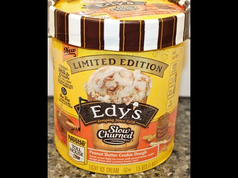 Edy's / Dreyer's Slow Churned Peanut Butter Cookie Dough Ice Cream Review