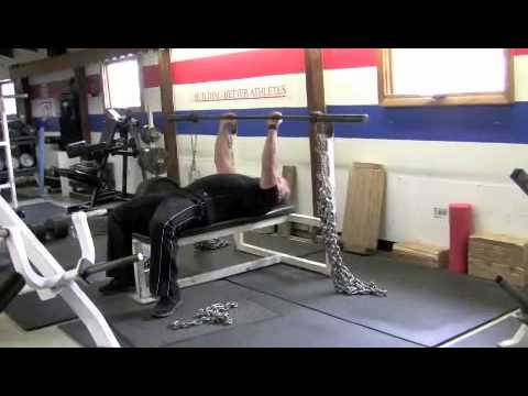How to properly set up bands and chains for bench pressing and squats