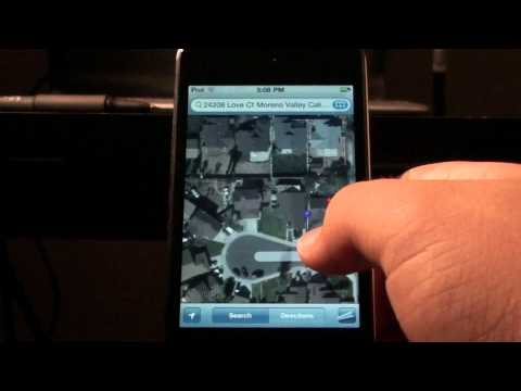 HOW TO GET GOOGLE MAPS STREET VIEW ON IPOD TOUCH