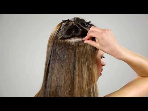 How to attach Clip-on hair extensions