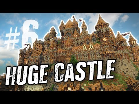 Minecraft: HUGE Medieval Castle   Update #6