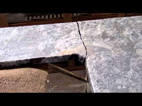 Broken Granite Countertop Before & After Being REPAIRED!