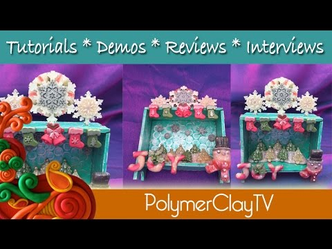 Holiday Snowflake Shrine on Polymer Clay TV