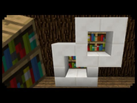 ✔ Minecraft: How to make a Modern Bookshelf