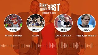 First Things First Audio Podcast(10.17.19)Cris Carter, Nick Wright, Jenna Wolfe | FIRST THINGS FIRST