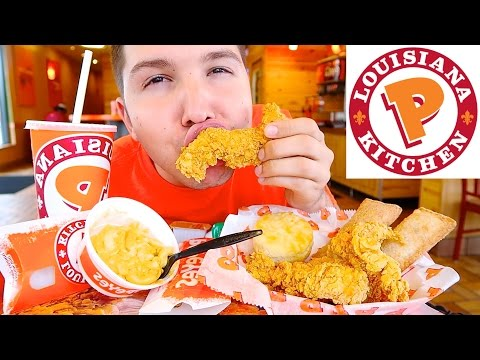Popeyes • Extra Crispy & Spicy Deep Fried Chicken • MUKBANG