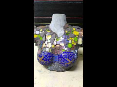 Cement Molds Hand Poured, Mosaic Art