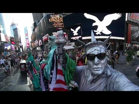Time Square Statue of Liberty 360 Video