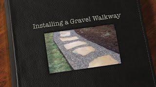 Installing A River Rock Walking Path