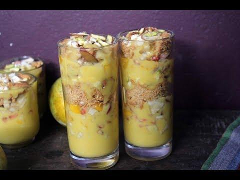 Crunchy Mango Delight / Layered Mango Pudding