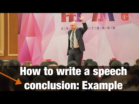 How to write a speech Conclusion EXAMPLE