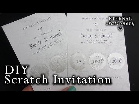 How to make an easy scratch card invitation | DIY invitations