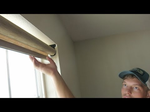 HOW TO PROFESSIONAL INSTALL WINDOW ROLLER BLINDS IN YOUR HOME!!