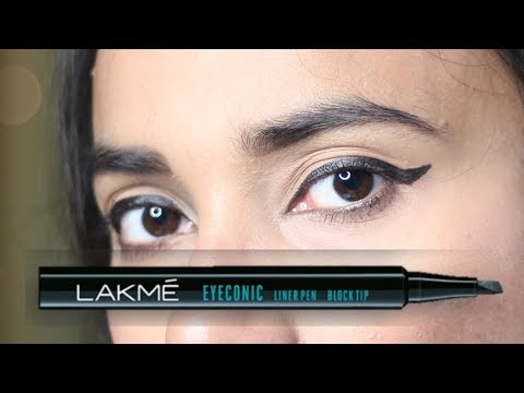 Lakme आई लाइनर कैसे लगाएं | Eyeconic Liner Pen Review, Demo + Tips to apply Winged Liner
