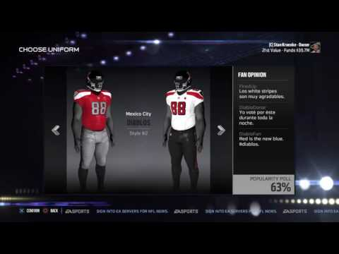 How to create your own team in Madden!