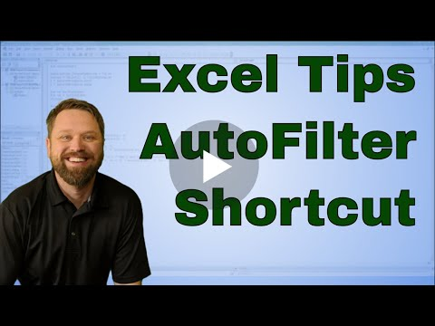 Tip Tuesday Quick Keys to Add a Data Filter