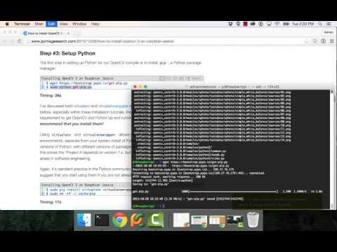 How to install OpenCV 3 on Raspbian Jessie