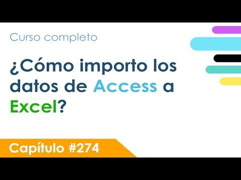 Importar datos desde Access a Excel con VBA - Capítulo 274