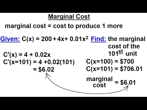 Calculus 1: Max-Min Problems (25 of 30) How to Calculate Marginal Cost: 2 Methods