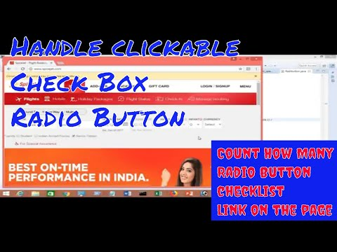 how to handle clickable checkbox/ Radio Button in selenium web driver