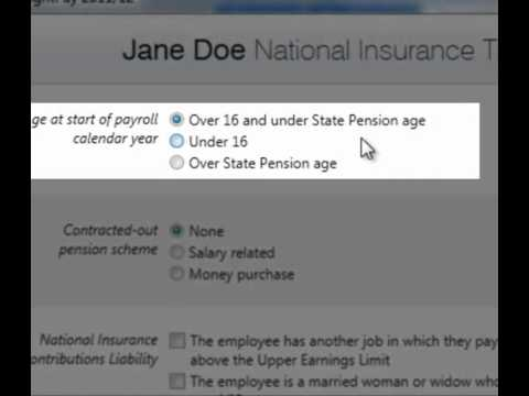 BrightPay Payroll Software UK: Adding an Employee - Tax & NIC Details
