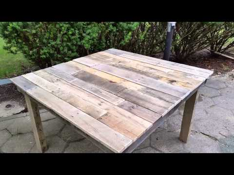 DIY Pallet Table - 100% Pallet Wood Table ~ Mesa de Madera de Palets