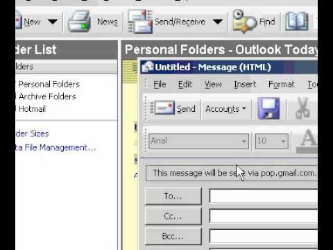 Microsoft Office Outlook 2003 Specify which email account to use to send a message
