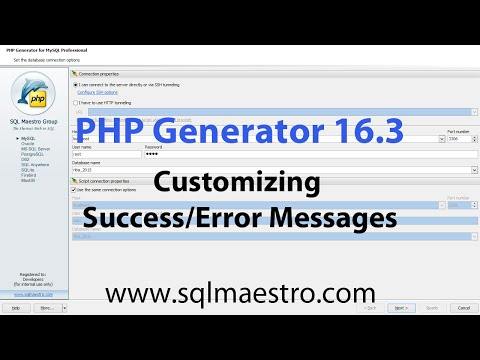 PHP Generator 16.3 new features. Part 3. Customizing Success/Error Messages