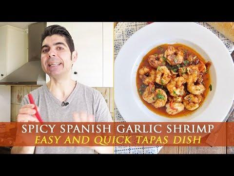 Spicy Spanish Garlic Shrimp Recipe - Gambas al pil pil