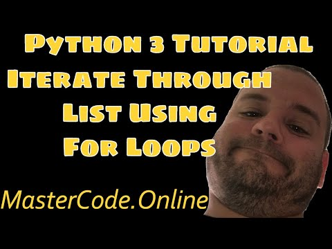 Iterate Through Python List Using For Loops
