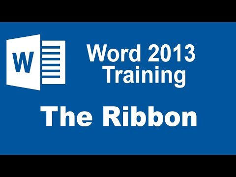 Microsoft Word 2013 Training - The Ribbon