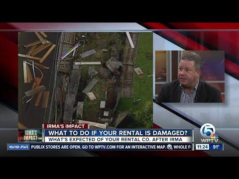 What do I do if my rental property was damaged by Hurricane Irma?