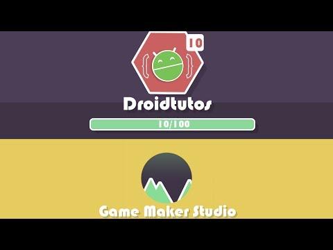 Como crear una barra de experiencia y niveles en Game Maker Studio.