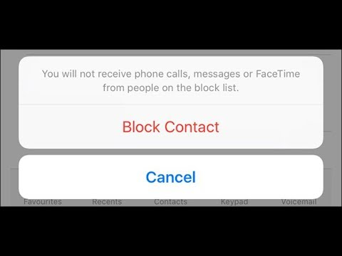 Block Contacts On Iphone