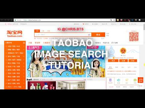 HOW TO TAOBAO IMAGE SEARCH