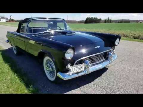 1956 Ford T-bird Raven Black 3 spd manual 2 top for sale auto appraisal $49,500.00 O/B 810-691-2664