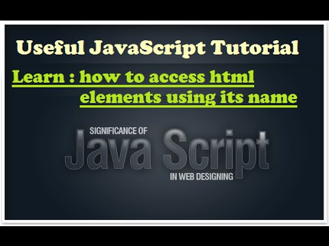 Javascript training - learn how to access element by tagname - Javascript tutorial for beginners