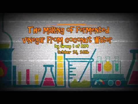 The Making of Fermented Vinegar from Coconut Water