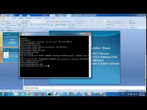 Configure DHCP on Cisco router - Cisco router as a DHCP Server