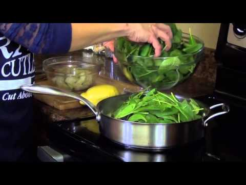 Spinach and Mushrooms - Light and Healthy Side Dish - RadaCutlery.com
